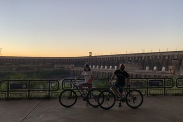 Passeio de bicicleta é a nova modalidade para visitar a usina de Itaipu