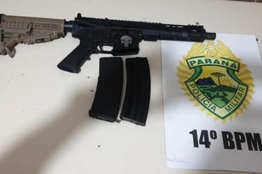 Polícia Militar apreende arma de guerra e exclusiva do exército em Foz do Iguaçu