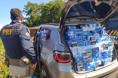 PRF apreende veículo carregado com 17,5 mil maços de cigarros no Paraná