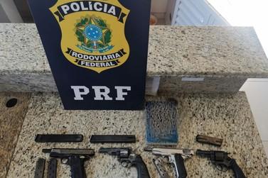 PRF aprende duas pistolas, dois revólveres e seis carregadores no posto de STI