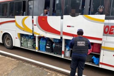 Receita Federal e BPFron apreendem dois ônibus em Santa Terezinha de Itaipu