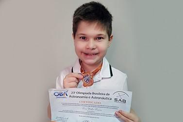 Talento iguaçuense é medalha de bronze em Olimpíada de Astronomia e Astronáutica