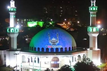 Mesquita em Foz do Iguaçu será iluminada em solidariedade ao povo palestino