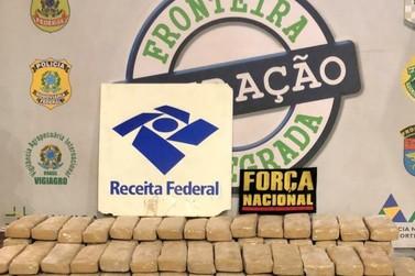 Receita Federal apreende mais de 70 tabletes de maconha na Ponte da Amizade