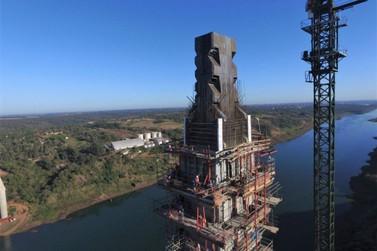 Obras da Ponte da Integração Brasil-Paraguai encontram-se 70% concluídas