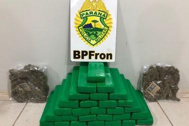 BPFron apreende drogas com menor em ônibus na cidade de São Miguel do Iguaçu