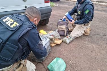 Casal é preso pela Polícia Rodoviária Federal levando drogas para Santa Catarina