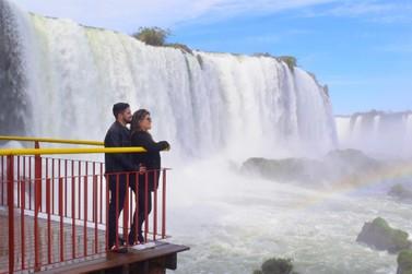 Cataratas do Iguaçu registram a maior vazão de água desde fevereiro deste ano