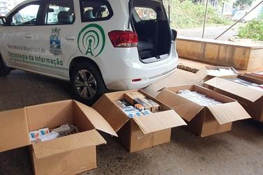 Receita Federal doa R$ 741 mil em mercadorias para a prefeitura de Foz do Iguaçu