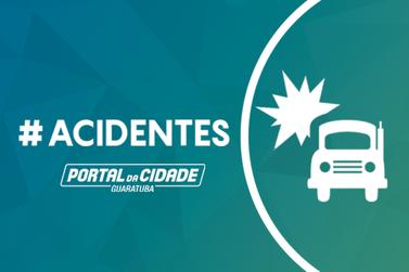 BR-376, em Guaratuba, teve dois acidentes próximos nesta sexta-feira (26)