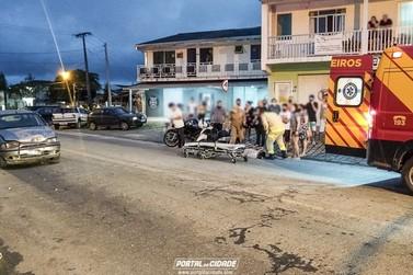 Carro e moto se envolvem em acidente no Piçarras