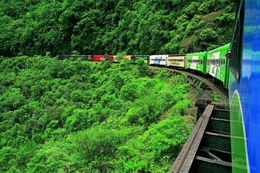 Natureza e história se misturam no passeio de trem pela Serra do Mar