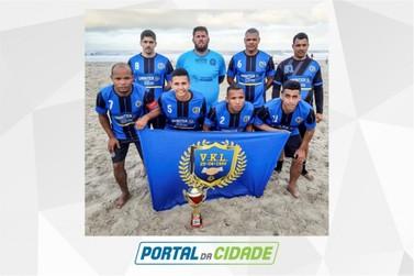 VKL fica em 3º em torneio de futebol de areia com potencias do esporte