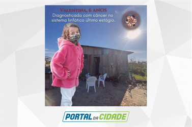 Grupo cria vaquinha virtual para ajudar família de menina de 6 anos com câncer