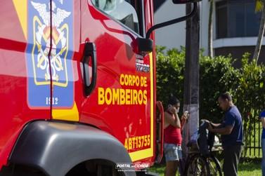 Manhã de sábado (31) inicia com incêndio em sobrado no Figueira