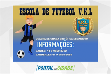 VKL abre vagas para escolinha de futebol em Guaratuba