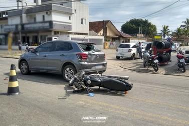 Acidente envolvendo carro e moto é registrado no Piçarras