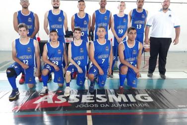 Equipe guaxupeana de basquete masculino lidera Jogos da Juventude