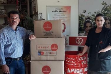 Projeto Amiga Recicla realiza doação a entidade assistencial de Juruaia
