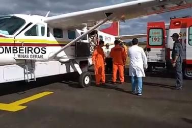 Vítima de queimadura é transferida de Guaxupé para o Hospital João XXIII
