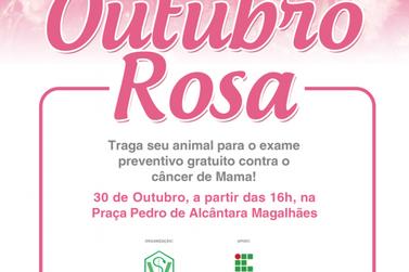 Alunos de Veterinária do IFSULDEMINAS fazem ação contra o câncer em animais