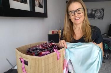 Empresárias promovem campanha de arrecadação de lenços no Outubro Rosa