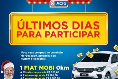 Acig sorteia Fiat Mobi 0 km nesta sexta-feira (27)