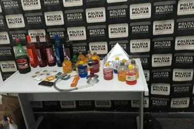 Adolescentes são flagrados em festa com drogas e bebidas alcoólicas