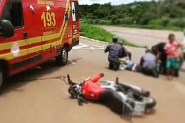 Motociclista fica ferido em acidente no Jardim Aeroporto