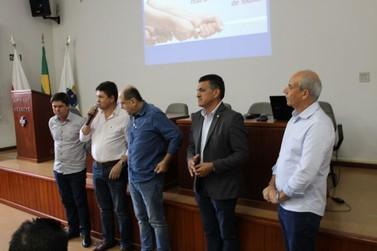 Emidinho Madeira e Rodrigo Pacheco realizam reunião sobre as cirurgias eletivas