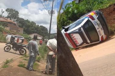 Viatura da PM tomba em perseguição policial