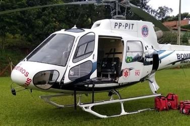 Vítima de acidente é transferida para Hospital Alzira Velano