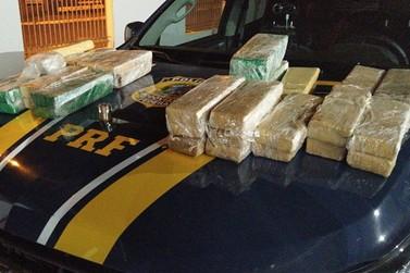 Polícia Rodoviária Federal apreende 40 kg de maconha em carro em Guaxupé