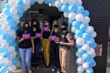 PM de Guaxupé promove blitz educativa de prevenção à violência doméstica