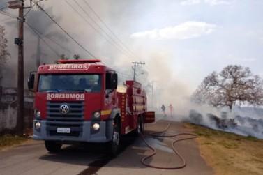 Incêndio atinge depósito de antiga fábrica de aviamentos