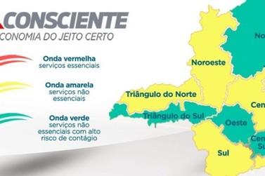 Macrorregiões Oeste e Centro-Sul avançam para onda verde do Minas Consciente