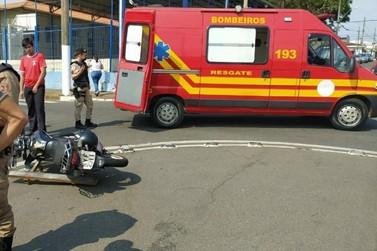 Motociclista fica ferido em acidente no bairro Angola