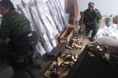 Polícia Militar de Meio Ambiente apreende 190 armas na zona rural de Guaranésia