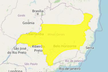 INMET emite alerta amarelo para tempestades na região