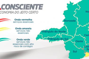 Quatro macrorregiões regridem para fases mais restritivas do Minas Consciente