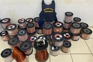 GCM recupera 800 kg de fios de cobre