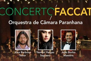 Orquestra de Câmara Paranhana realiza concerto na Faccat