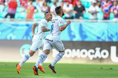 Grêmio vence o Bahia e sobe na tabela