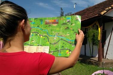 Mapa ilustrado reforça caráter turístico de Igrejinha