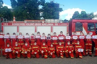 Bombeiros Voluntários de Igrejinha se reúnem para conscientizar a comunidade