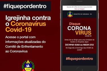 Igrejinha lança site para informar sobre o Coronavírus