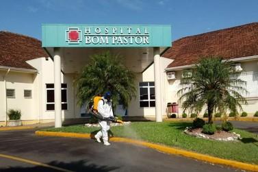 Imunizadora Hoffmann faz sanitização voluntária no entorno do Hospital