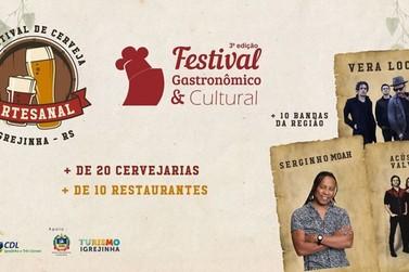 Opções gastronômicas vão agradar os paladares no Festival em Igrejinha