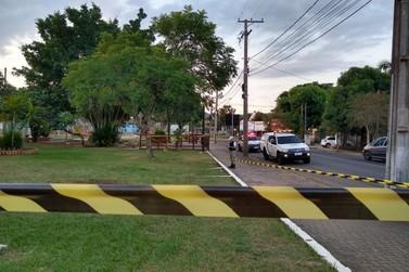 Prefeitura de Igrejinha isola espaços públicos evitando aglomeração de pessoas