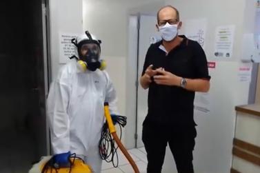Unidades de Saúde de Igrejinha passam por sanitização contra vírus e bactérias